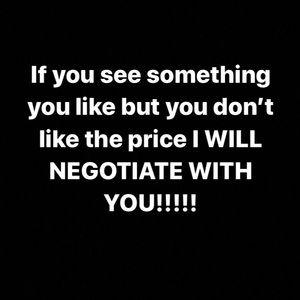I negotiate